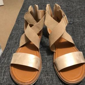 Maurices Gold Sandals